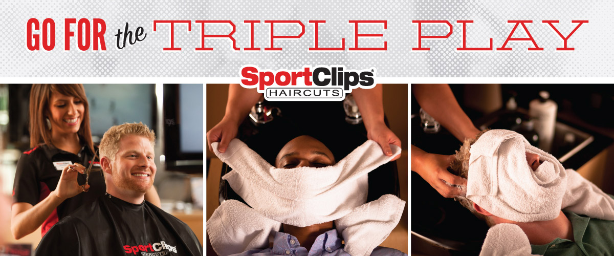 The Sport Clips Haircuts of Tampa - Gandy Shoppes  Triple Play